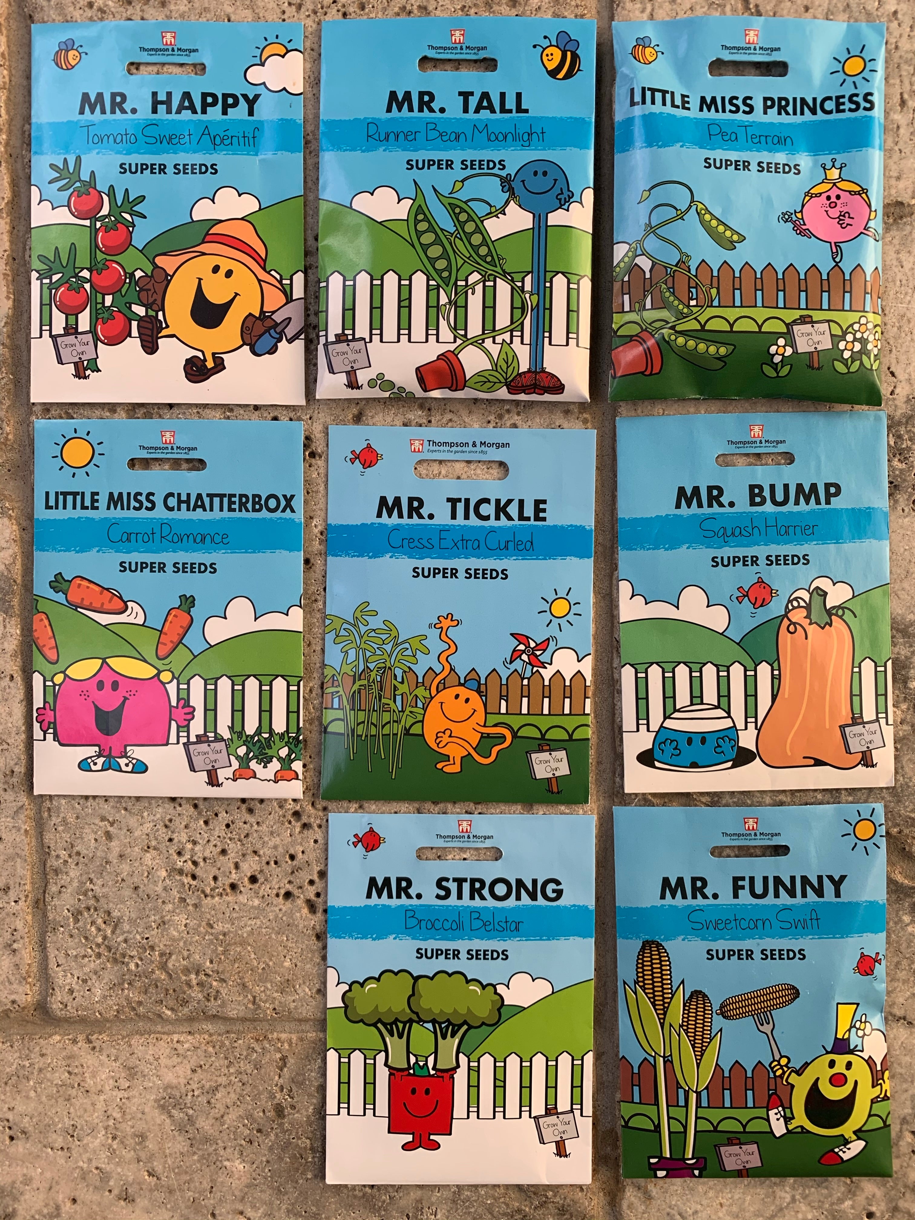 Childrenƒ??s Mr Men Vegetable Seed Collection