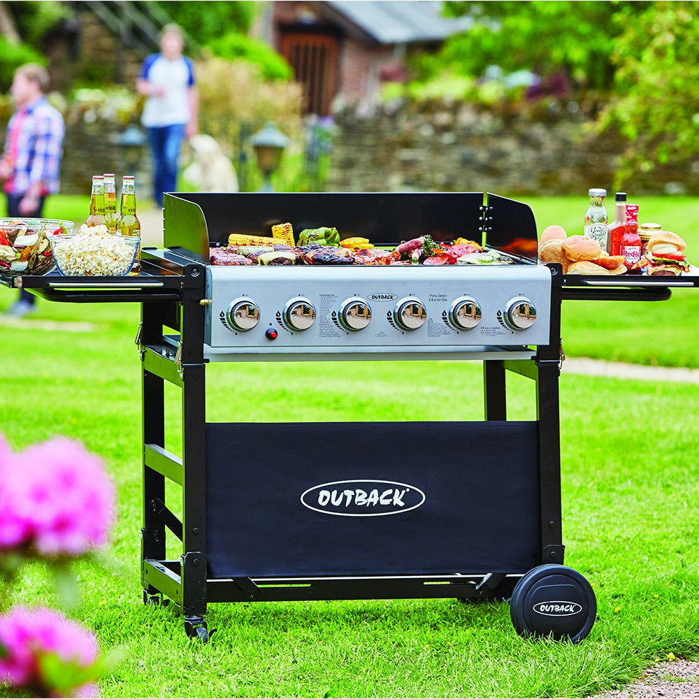 Outback Party 6 Burner Gas BBQ ***£100 OFF RRP***