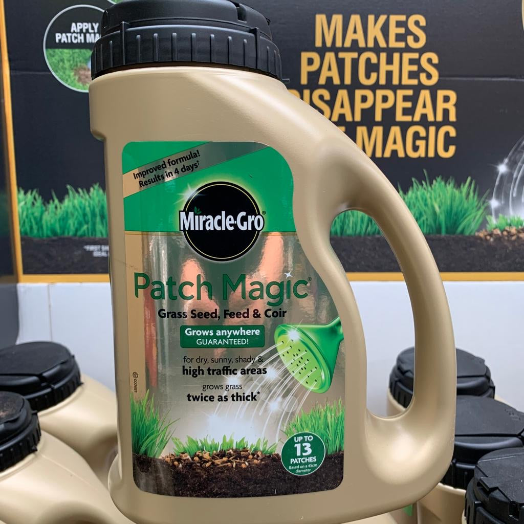 Miracle Grow Patch Magic - Grass Seed That Grows Anywhere