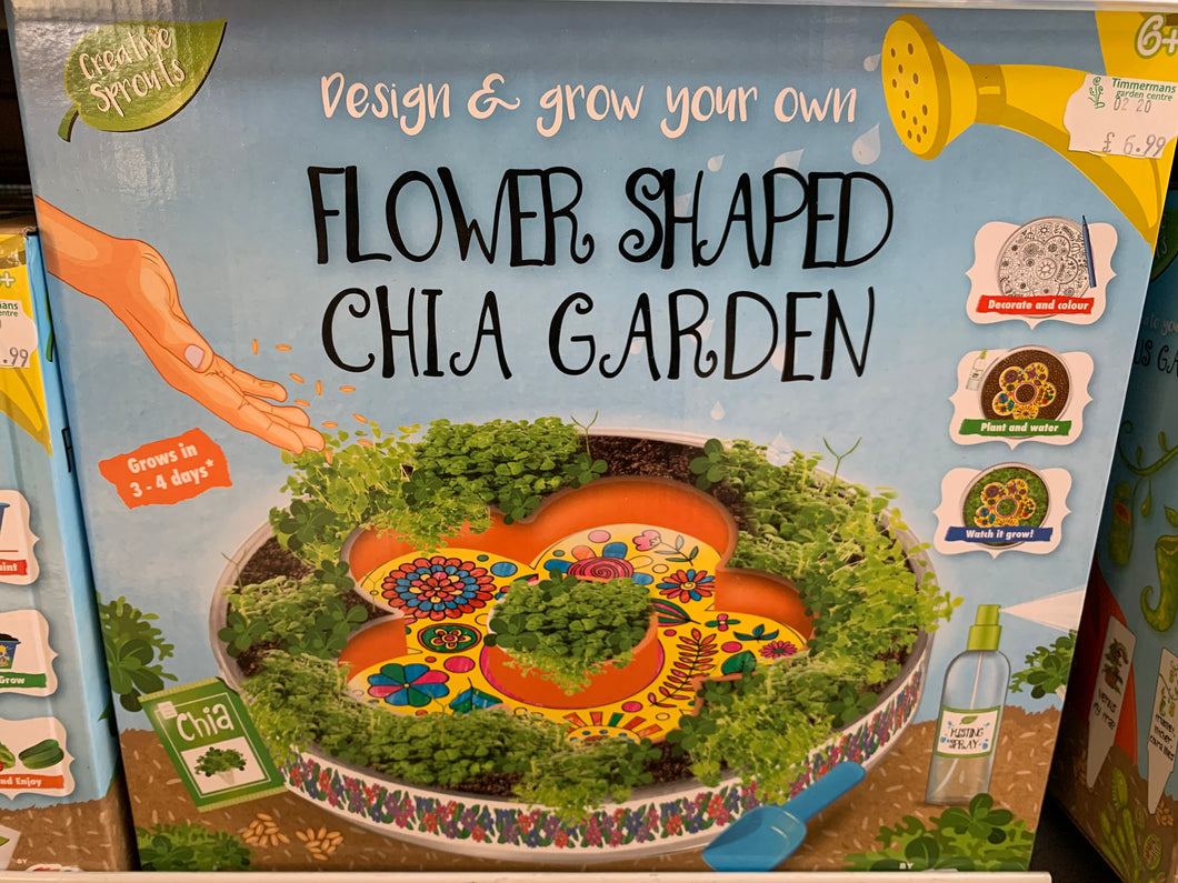 Flower Shaped Chia Garden Kit
