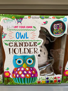 Paint your own Owl Candle Holder