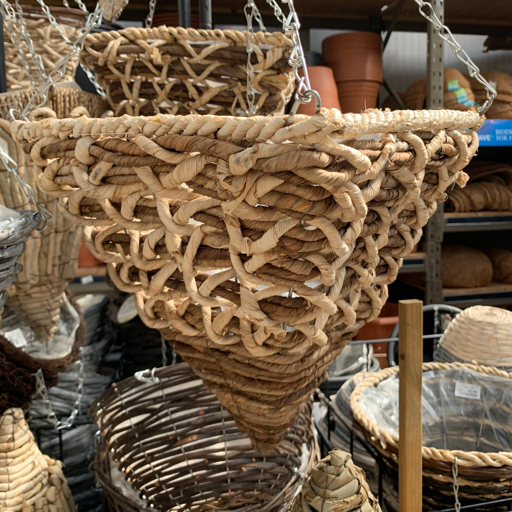 Triangular Woven Hanging Basket