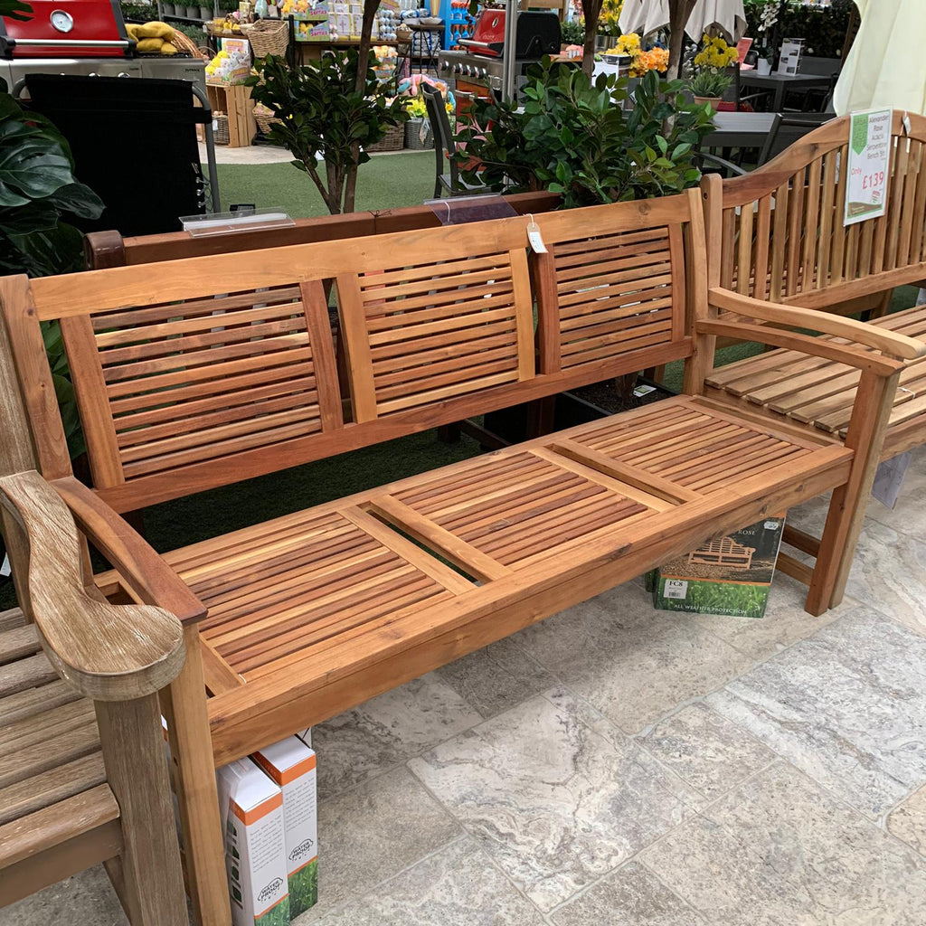 Alexander Rose Acacia Lakeside 5ft Garden Bench - Ex Display