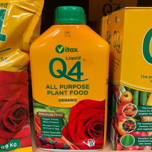 Vitax Q4 Liquid All Purpose Plant Food - 1 Litre - 50 Cans