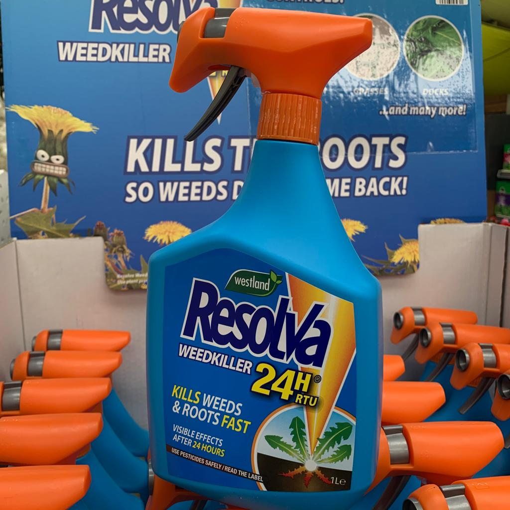 Westland Resolva 24 Hr Ready To Use Weed Killer Spray 1L