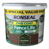 Ronseal One Coat Fence Life 12L Fence Paint - Forest Green