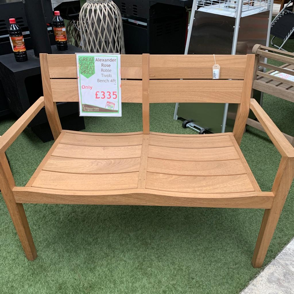 Alexander Rose Roble 4ft Modern Garden Bench - Ex Display