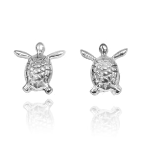 Classic Adorable Sea Turtle Stud Earrings - Beach Sea Life Jewelry - Inspired by Ocean _ Nautical - Handmade