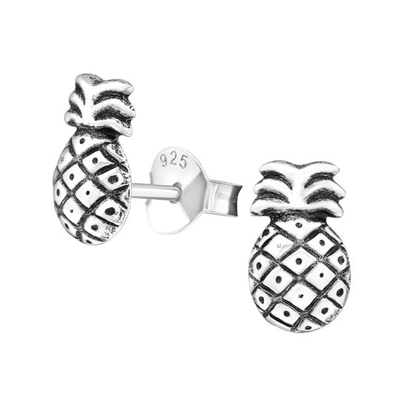 Junior Sterling  Silver Pineapple Ear Studs