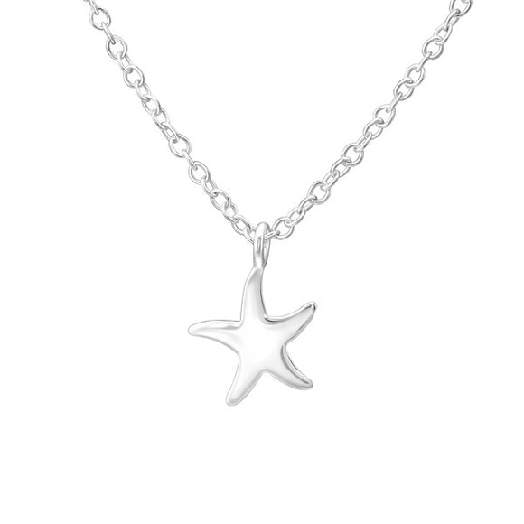 Junior Sterling  Silver Starfish Necklace