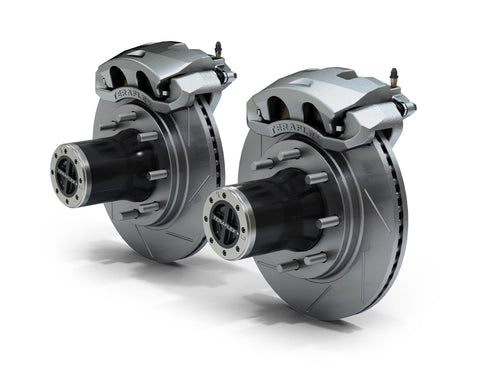 JK Front 8-Lug Full-Float Locking Hub Conversion Kit & Big Brake Kit w/ Slotted Rotors - Moab Outfitters