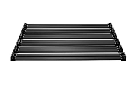 JKU 4-Door Nebo Roof Rack 6-Piece Cargo Slat Kit - Black
