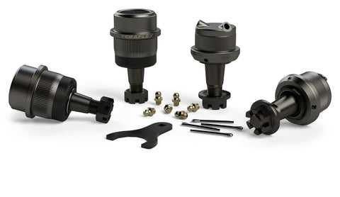 JK/JKU HD Dana 30/44 Upper & Lower Ball Joint Kit w/ Knurl - Set of 4