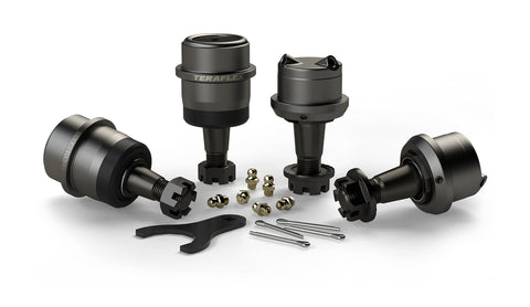 TJ/LJ Dana 30 | Dana 44 Upper & Lower HD Ball Joints w/ Knurl - Set of 4