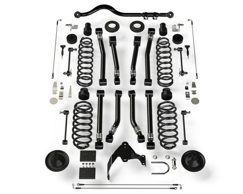 "JK 2- Door 4"" Lift Suspension System w/ 8 Alpine Flexarms & Track Bar - No Shocks - Moab Outfitters"