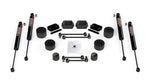 "JLU 4-Door Rubicon: 2.5"" Performance Spacer Lift Kit & 9550 VSS Shocks"