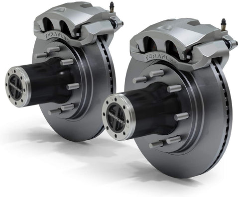 JK Front 8-Lug Full-Float Locking Hub Conversion Kit & Big Brake Kit - Moab Outfitters