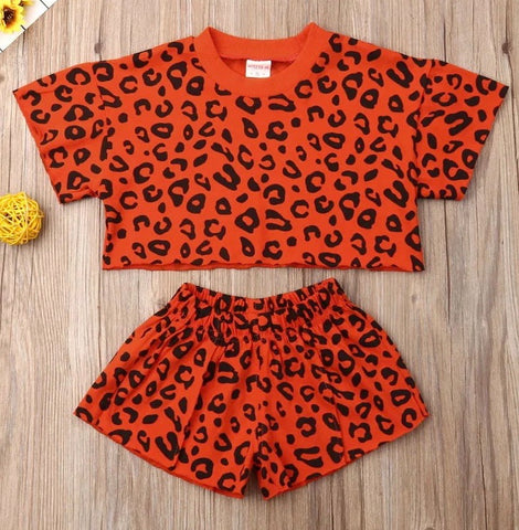 Orange Leopard Summer Set
