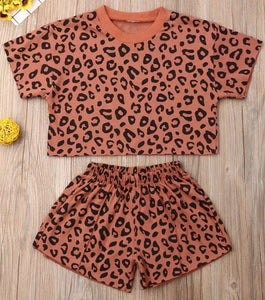 Peach Leopard Summer set