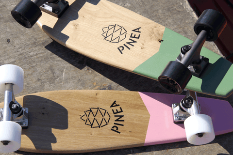 pinea skateboards planches skate couleurs