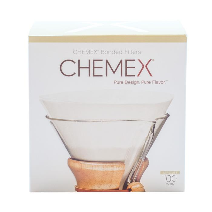 Chemex round paper filters 6, 8, 10 cups - 100 pcs - Gust Coffee Roasters