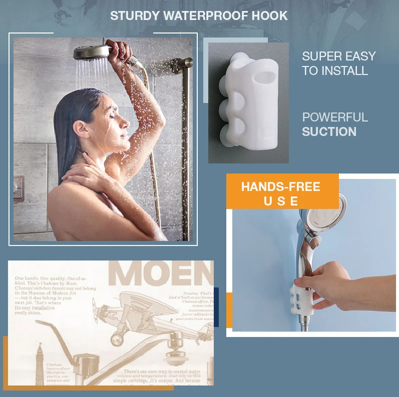 Shower Suction Cup Bracket 2pcs - Powerful Suction & No Tools Needed