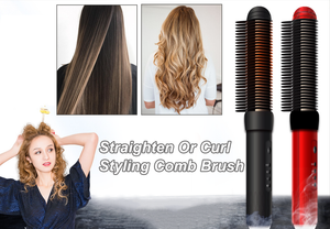 Styling Comb Brush - Straighten Or Curl Easily  & Perfect For Salon-quality Results