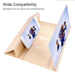 12 inches 3D Phone Screen Magnifier