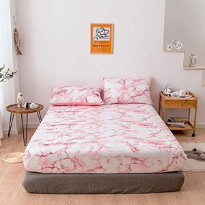Marble Pattern 3 PCS Fitted Sheets (No Flat Sheet)