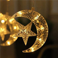 Load image into Gallery viewer, Moon & Star LED Curtain String Light