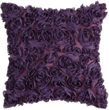Load image into Gallery viewer, Rose Flower Pillow Cover Solid Square