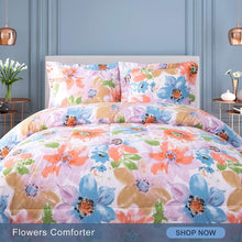 Load image into Gallery viewer, Flower Pattern Comforter Set