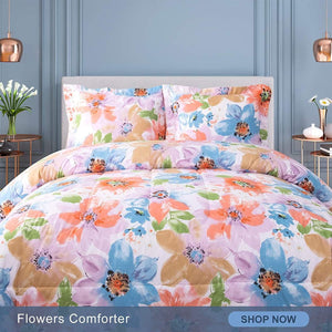 Flower Pattern Comforter Set