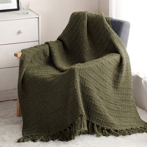 Thick Chunky Knitted Throw Blanket