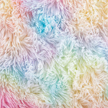 Load image into Gallery viewer, Fluffy Velvet Rainbow Area Rug