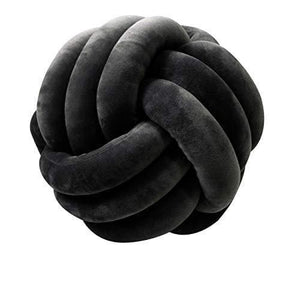 Plush Throw Knotted Round Pillow