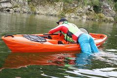 Recovering from a capsize sit on top fishing kayak