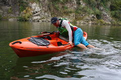 Capsize rescue SOT fishing kayak