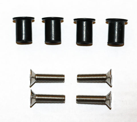 Wellnuts for kayaks with countersunk bolts