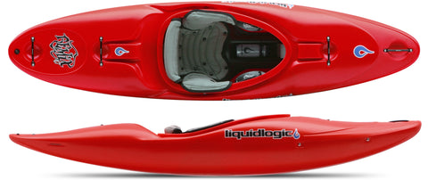Liquidlogic Remix 47 Kids kayak Firebrick red