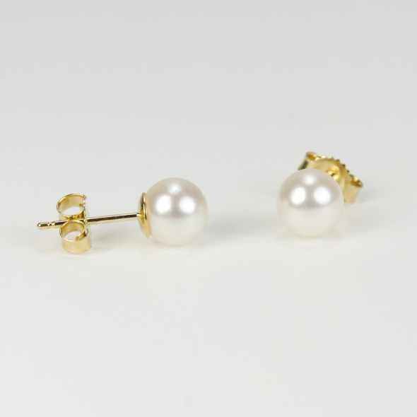 Mastoloni 14K Yellow Gold 6-6.5mm Cultured Pearl Stud Earrings