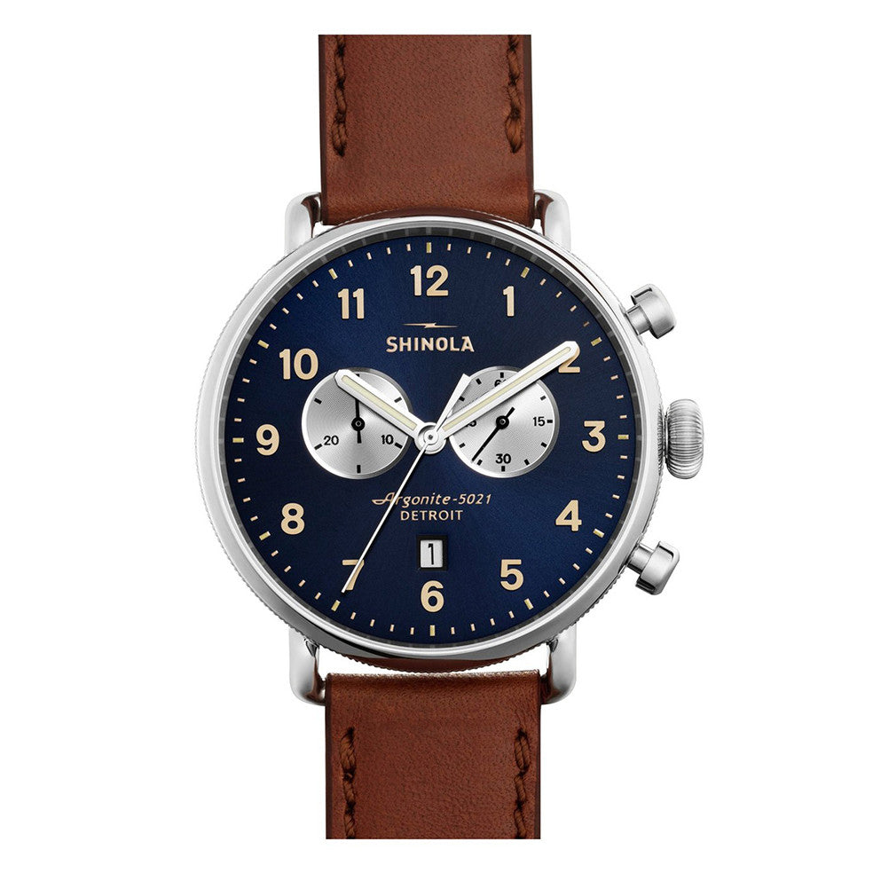 Shinola Men's Canfield Chrono 43mm Watch