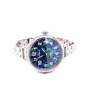 Ladies Shinola Birdy 34mm Abalone Watch