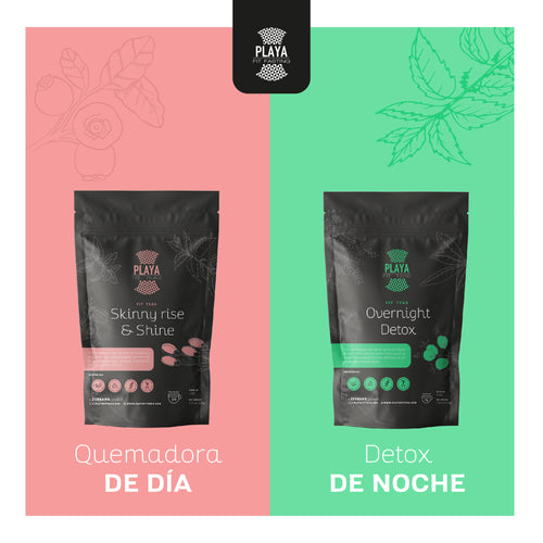 1 Mes Tratamiento : Skinny + Detox - Playa Fit Teas Chile