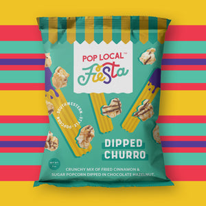 Pop Local Fiesta Dipped Churro Popcorn (Snack Bags)