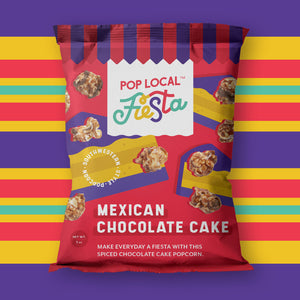 Pop Local Fiesta Mexican Chocolate Cake Popcorn (Snack Bags)