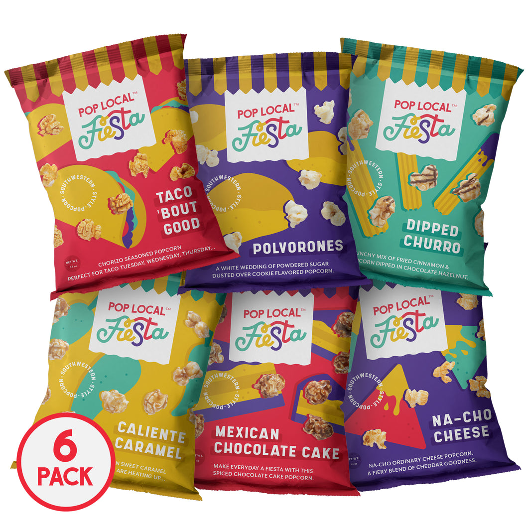 Pop Local Fiesta Popcorn (Snack Bags Variety Pack)