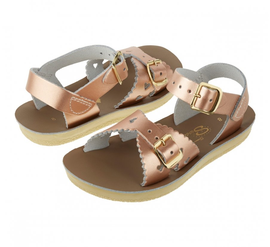 Sweetheart Rose Gold Saltwater Sandals - Kids/Youth