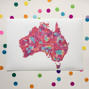 Australia - A4 Print by Niki Pilkington