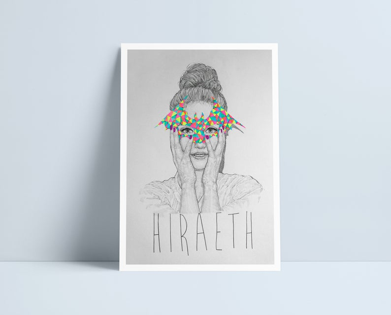 Hiraeth - A4 Print by Niki Pilkington